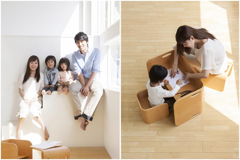 【COLO COLO Chair & Desk】天然木のブナ材を使用したベビー用の椅子と子供机 image02