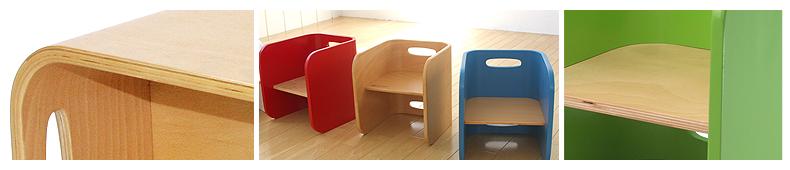 【COLO COLO Chair & Desk】天然木のブナ材を使用したベビー用の椅子と子供机 安全