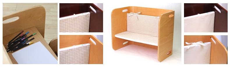 【COLO COLO Chair & Desk】天然木のブナ材を使用したベビー用の椅子と子供机 クッション