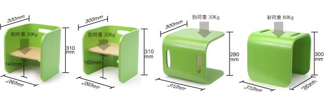 【COLO COLO Chair & Desk】天然木のブナ材を使用したベビー用の椅子と子供机 チェアサイズ