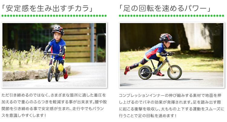 【ストライダーレース】 FixFit ランバイクのために開発された「コンプレッションインナー」セット!筋肉サポート・疲労軽減効果