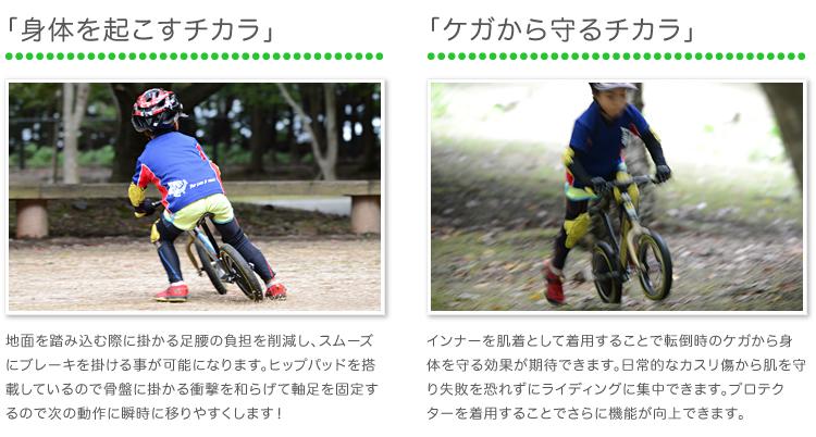 【ストライダーレース】 FixFit ランバイクのために開発された「コンプレッションインナー」セット!筋肉サポート・疲労軽減効果回復